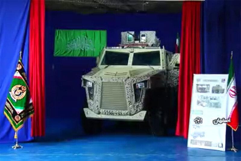 فیلم   از خودروهای تاکتیکی ارتش رونمایی شد